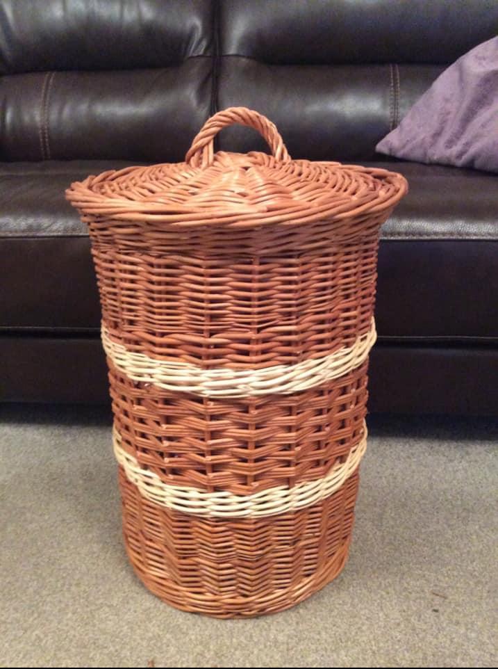 Space Saving Linen Basket
