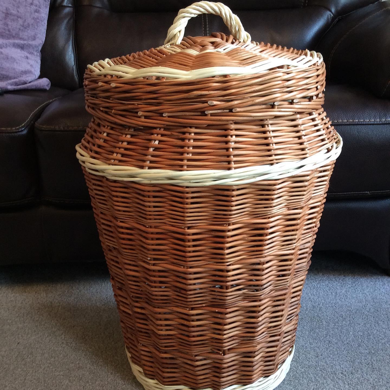 """Traditional English """"Ali Baba"""" Laundry Basket"""